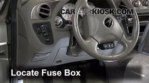 interior fuse box location   acura rsx