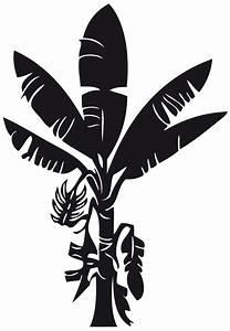 Stickers Arbre Noir : sticker bananier nature arbres destock stickers ~ Teatrodelosmanantiales.com Idées de Décoration