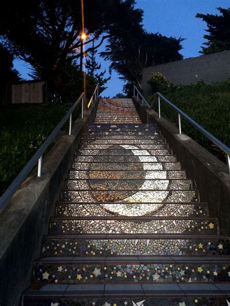 These Tiled Steps In San Francisco Glow At Night From The. Mustang Stickers. Brewing Burial Murals. Long Wooden Wall Signs. White Ribbon Banners. Bathrrom Signs. Monthsary Lettering. Cursive Signs Of Stroke. Skeleton Signs Of Stroke