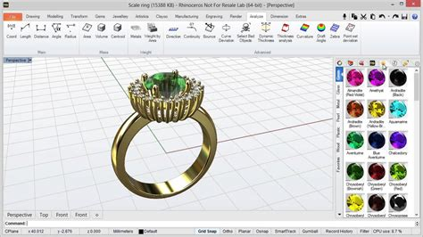 rhino  jewelry design software    ellenschool