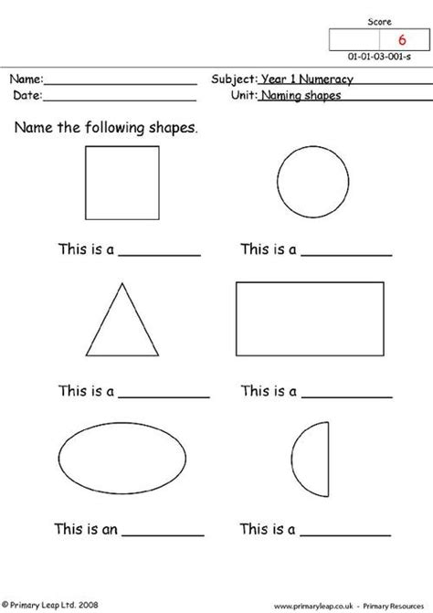 Naming Shapes Primaryleapcouk