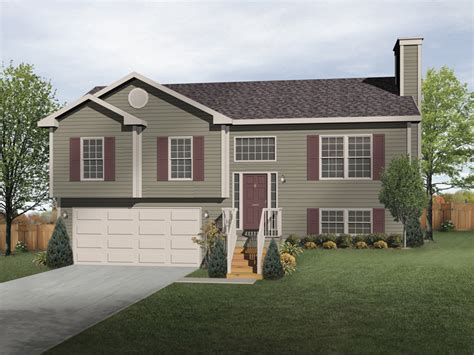 split level ranch house oaklawn split level home plan 058d 0069 house plans and more