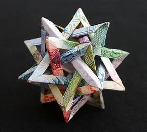 Geometric currency sculptures folded by kristi malakoff for Geometric currency sculptures by kristi malakoff