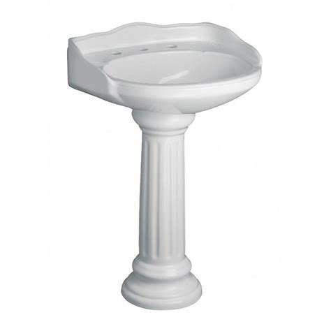 home depot pedestal sink pegasus vicki 22 in pedestal combo bathroom sink in white