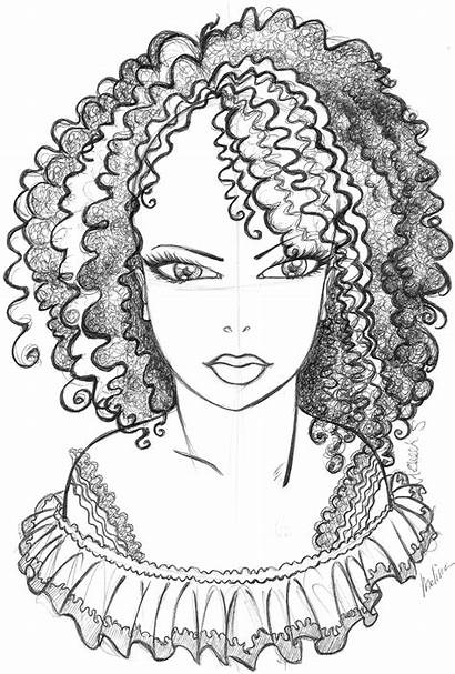 Coloring Pages African American Hair Afro Printable