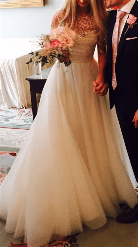 stephanie allin emelia dress sell  wedding dress