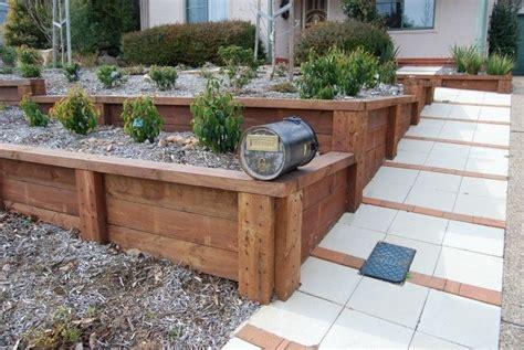 wood retaining wall ideas retaining walls timber sleeper wall jerrabomberra canberra 717x480 jpg 717 215 480 yard