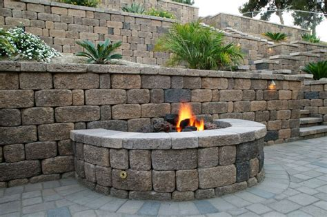 firepit wall pin by keystone retaining wall systems on fire pits pinterest
