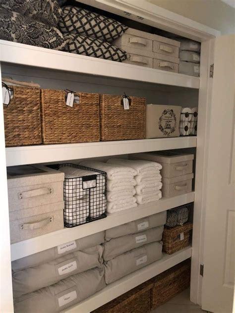 Linen Cupboard Organisation by Leanne The Linen Cupboard Woven Storage Basket From