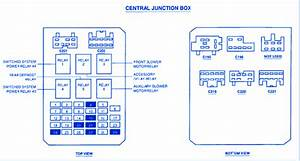 Ford Windstar 2000 Central Junction Fuse Box  Block Circuit Breaker Diagram