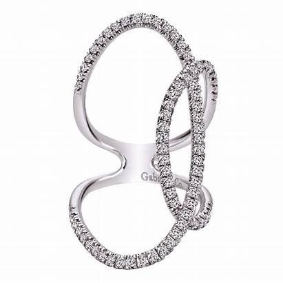 Ring Diamond Gabriel Gold Gabrielny Jewelry Overlapping