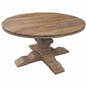 Maris french country reclaimed elm round dining table for French round dining table
