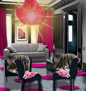 Salon Gris Et Rose : un salon rose et gris floriane lemari ~ Preciouscoupons.com Idées de Décoration