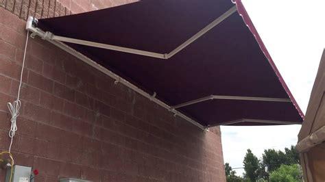 aleko    retractable patio awning burgundy color youtube