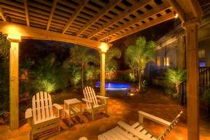 landscape lighting with pergola traditional patio With outdoor lighting gardenweb