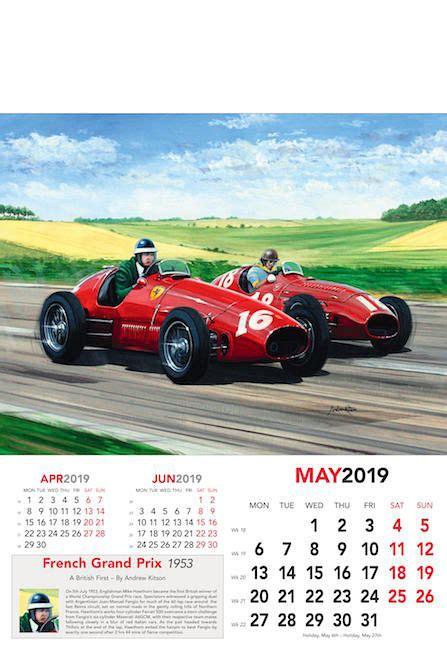 automobilkunst kitson andrew formel kunst kalender grand prix