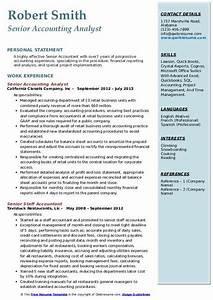 Senior Accounting Analyst Resume Samples