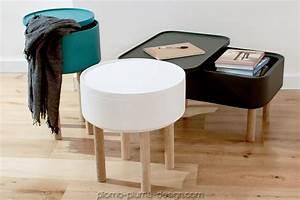 Petite Table En Bois : hat gris petite table basse en bois coffre plomb plume design ~ Teatrodelosmanantiales.com Idées de Décoration