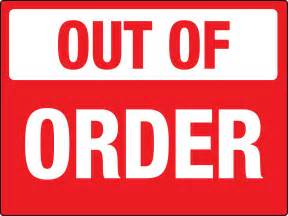 Order Out Sign