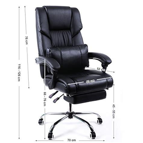 pied pour fauteuil de bureau songmics fauteuil de bureau chaise pour ordinateur avec repos pieds pliable dossier r 233 glable