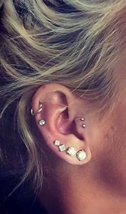 Double tragus, Tragus and Double tragus piercing on Pinterest