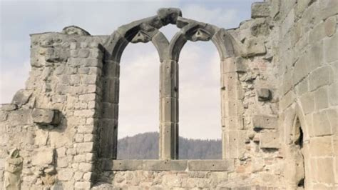 Gothic Stone Window Arched Arch Gothic Cathedral Ruins