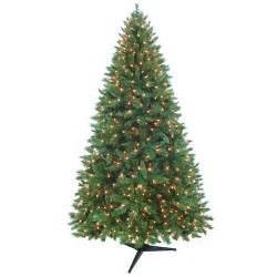 holiday time pre lit 7 5 kennedy fir artificial christmas tree walmart com