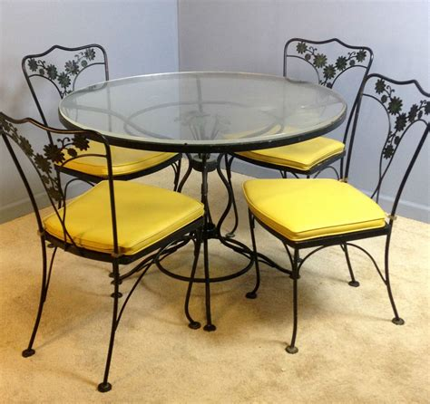 Table Sets Wrought Iron by Genuine Woodard Patio Table Dinette Dining Chairs Set