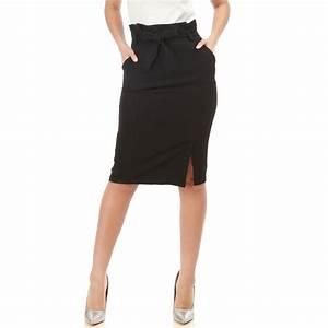 Jupe Crayon Noir : jupe crayon noire avec ceinture femme pas cher la modeuse ~ Preciouscoupons.com Idées de Décoration