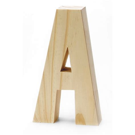 Chunky Wood Letter 8 X 5 In Joann