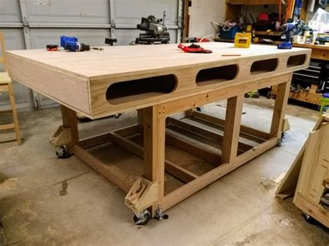 shop projects  outfeedassembly table  paul