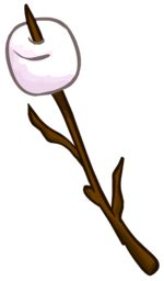 marshmallow on a stick clipart cfire marshmallow club penguin wiki the free