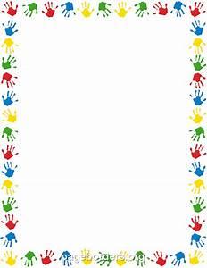 Handprint Clipart Border - ClipartXtras