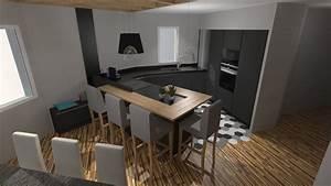 peinture noir mat pour meuble en bois 9 cuisine moderne With peinture noir mat pour meuble en bois