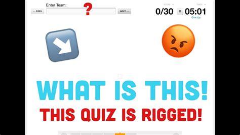 rigged guess  nba team  emoji quiz youtube