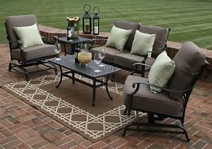 Herve 5 piece deep seating furniture set oal7144 for Deck furniture sets