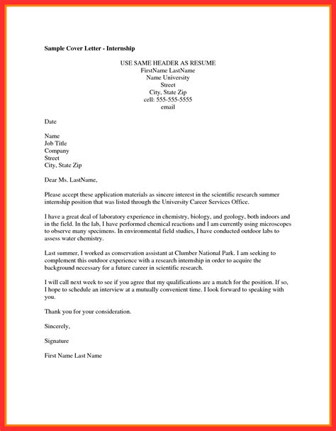 cover letter heading good resume format