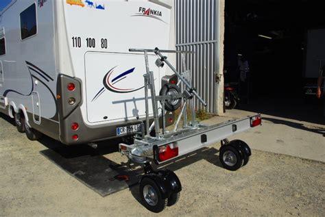 remorque porte moto pour cing car remorque 224 roues pivotantes
