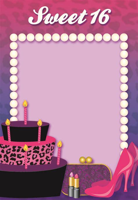 printable sweet  birthday invitation cumpleanos