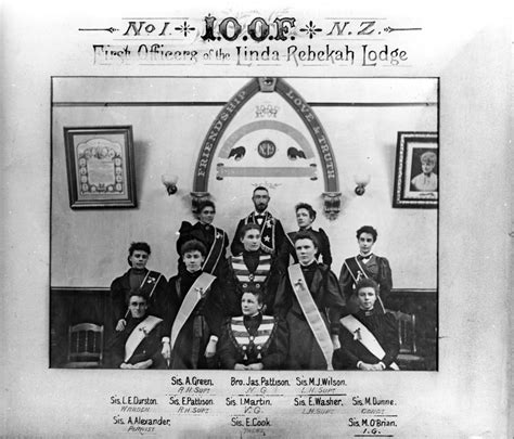 Rebekah Lodges of the Independent Order of Odd Fellows ...