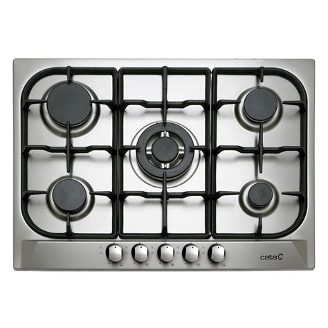 plaque de cuisson gaz plaque de cuisson gaz 5 foyers inox cata apelson l705ti leroy merlin