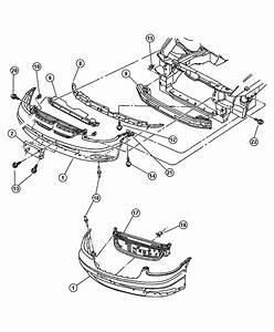 Chrysler Grand Voyager Support  Radiator Grille  2 0l
