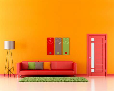 make home decoration with light orange wall paint warisan lighting