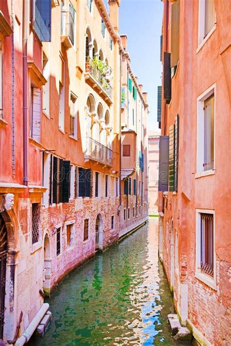 Old Colorful Buildings In Venice Italy Stock Image