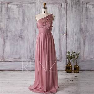 2016 dusty rose bridesmaid dress long chiffon maxi dress With dusty rose wedding dress