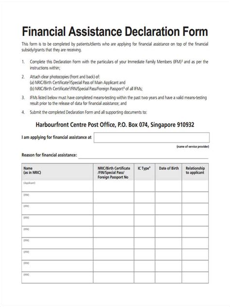 Declaration Document Template by 31 Financial Forms In Pdf