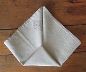 Pliage De Serviette En Tissu : pliage de serviette de table r aliser un sac main avec ~ Nature-et-papiers.com Idées de Décoration