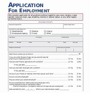 21 employment application templates pdf doc free With application for employment california template