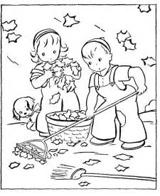 Fall Season Coloring Pages for Kids