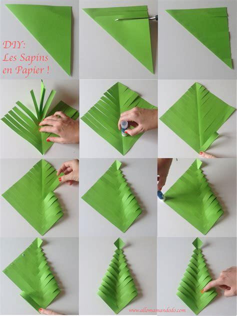 fabrique des sapins en papier diy facile et rapide
